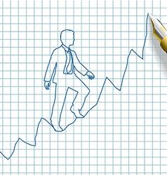 Entrepreneur start up business success vector image