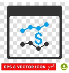 Financial Charts Calendar Page Eps Icon vector image vector image