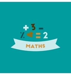 flat icon on background math lesson vector image
