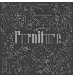 Furniture chalk vector image vector image