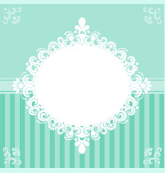 invitation card in turquoise tones vector image vector image