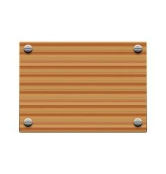 wooden board copy vector image vector image