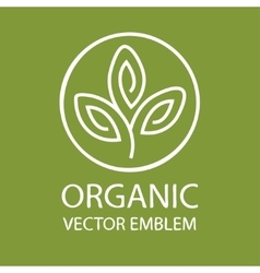 abstract organic emblem outline monogram vector image vector image