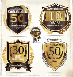 Anniversary design element collection vector image vector image