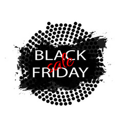 black friday sale abstract explosion black glass vector image
