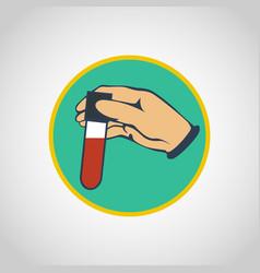 blood test logo icon design vector image