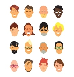Man avatar icons vector image vector image