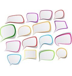 Set of color speech designs vector image vector image
