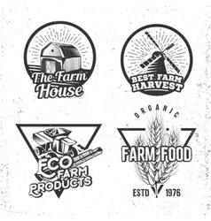 Set of logos farmhouse concepts Labels in retro vector image vector image