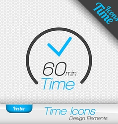 Time Iicon 60 Minutes Symbol Design Elements vector image vector image