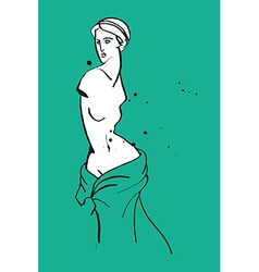 Venus caricature vector image
