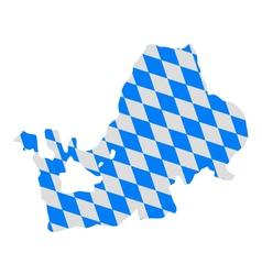 Bavarian flag and map of lake Chiemsee vector image vector image