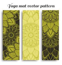 Mat for yoga fitness vector