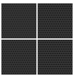 Seamless Metal Backgrounds Set vector image