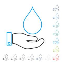 Water service line icon vector