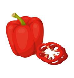 bell pepperbbq single icon in cartoon style vector image