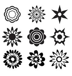 Flower set vector image vector image