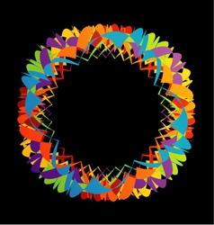 Fractal geometrical design element vector image vector image