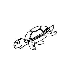 Marune turtle animal vector image vector image
