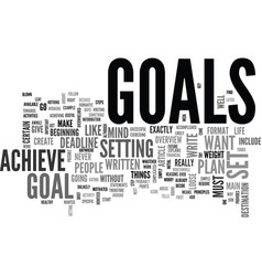 why do people set goals for themselves text word vector image