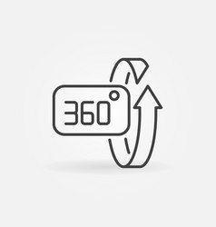 360 degrees rotation concept icon in linear vector