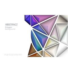 3d geometric polygon line triangle pattern shape vector image