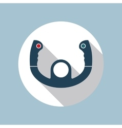 Aircraft steering helm icon vector