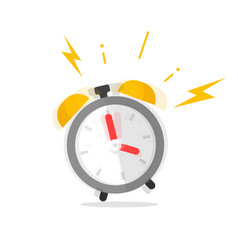 alarm clock ringing icon flat vector image