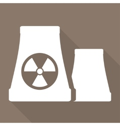 Atomic power station icon vector