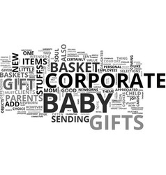 babasket corporate gift text word cloud concept vector image