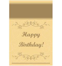 beige greeting card - happy birthday vector image