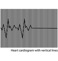 Black heart cardiogram on background vector