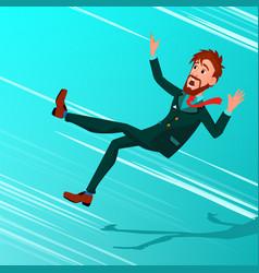businessman falling down miskate vector image