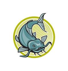 Catfish Attacking Circle Cartoon vector image