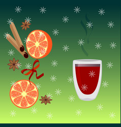 Christmas and mulled wine vector