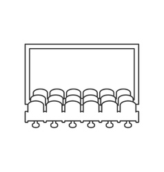 Cinema hall line icon vector image
