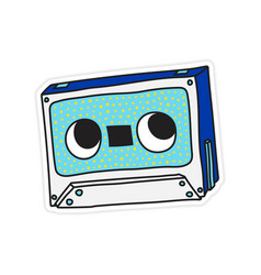 compact audio cassette musicassette music tape vector image