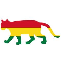 Cougar Bolivia vector