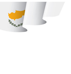 cyprus flag on a white vector image