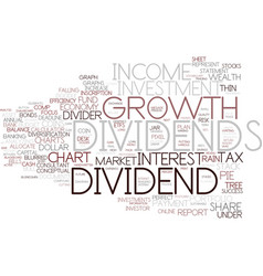 Dividends word cloud concept vector
