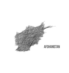 drawing map afghanistan made out lines vector image