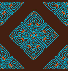 Ethnic seamless pattern background in brown and vector