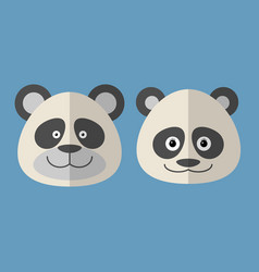 faces of panda vector image