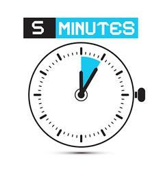 Five Minutes Stop Watch - Clock vector image vector image