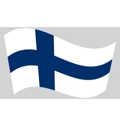 Flag of Finland waving vector image