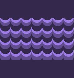 flat fashionable stylish wavy purple background vector image