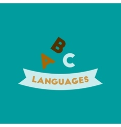 Flat icon on background letters languages vector