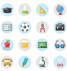 Flat Icons For Education Icons and School Icons vector