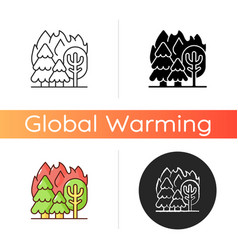 forest fires icon vector image