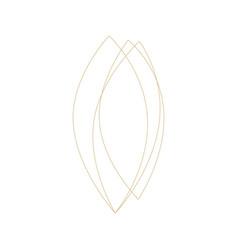 geometric leaf frame ornament decoration line vector image